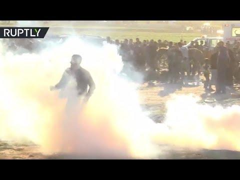 Gaza-Israel border protest rages on