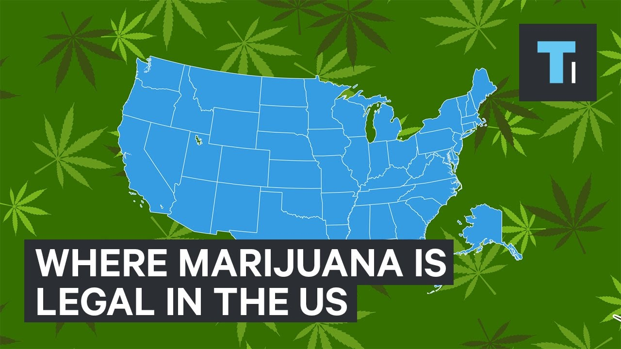 Where Marijuana Is Legal In The US YouTube - Legality of pot in the us map