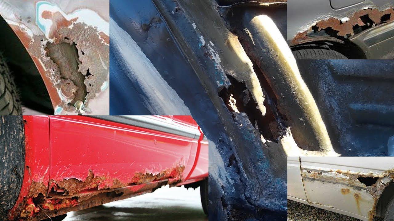 Средства с ржавчиной на кузове автомобиля сквозные дырки