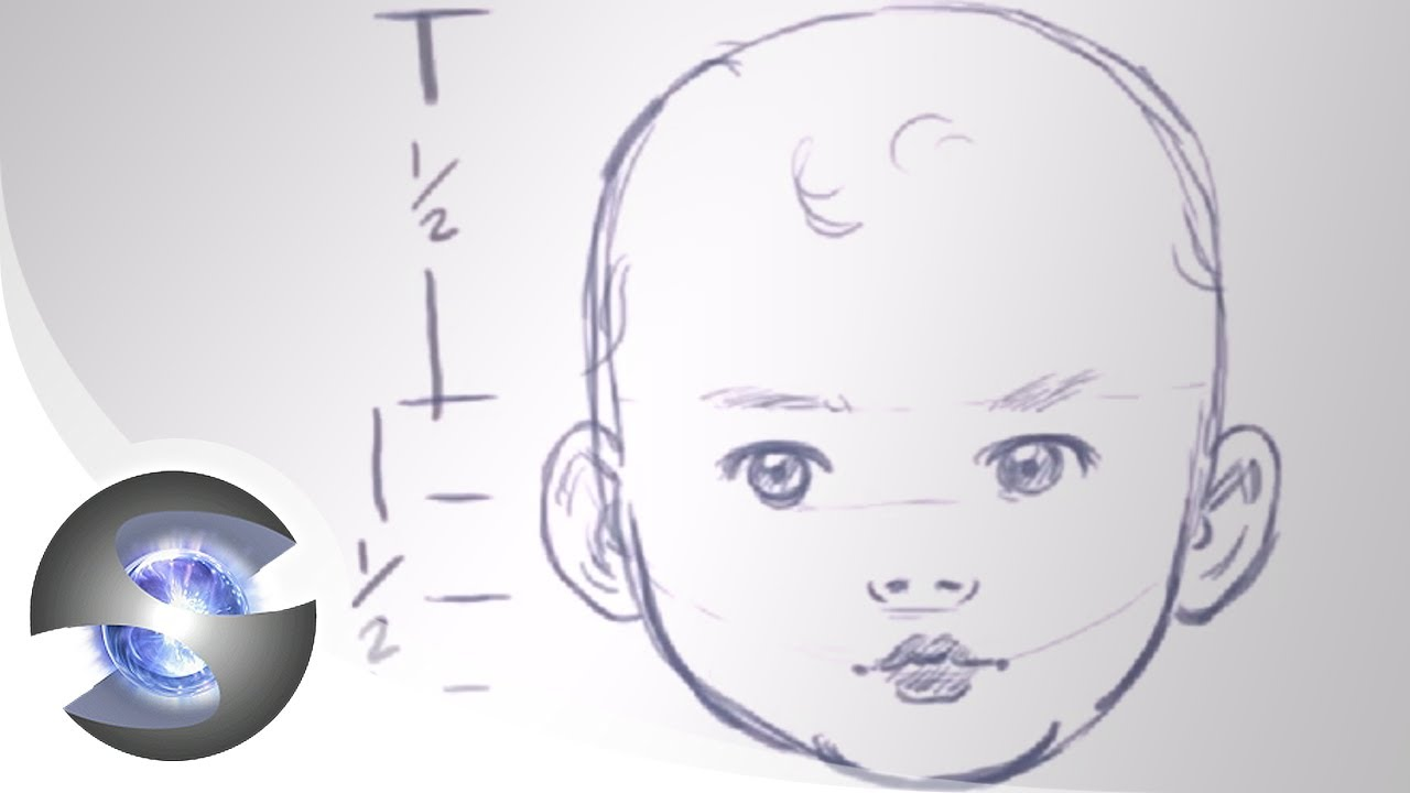 how to draw a baby head youtube