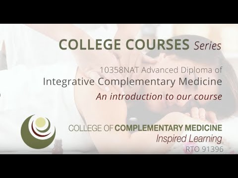 Advanced Diploma of Integrative Complementary Medicine