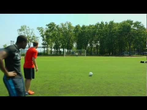 Thumbnail: Crossbar Challenge with a Professional Footballer