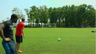 Crossbar Challenge with a Professional Footballer