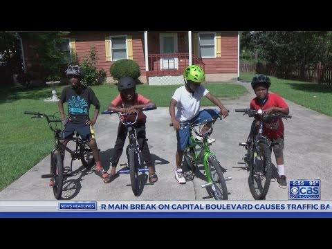 North Carolina police buy bikes for local kids