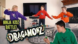 Ninja Kids Smash Dragamonz Eggs and Battle for Victory! | Dragamonz