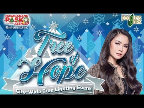 Treeof Hope Lighting event| Valenzuela City Peoples park| with Yeng Constantino