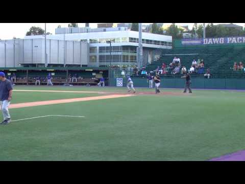 Ian Pitching at Husky Stadium for Baden (Camera in...