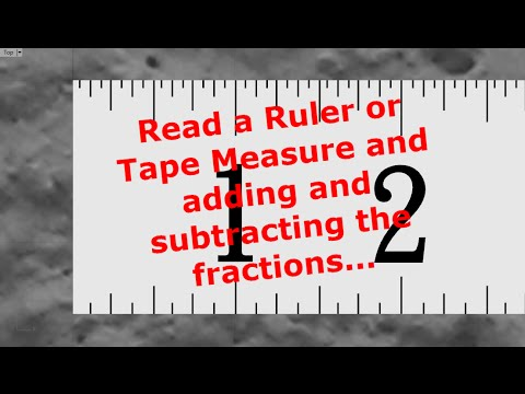 Reading Ruler Or Tape Measure Adding Subtracting The Measurements