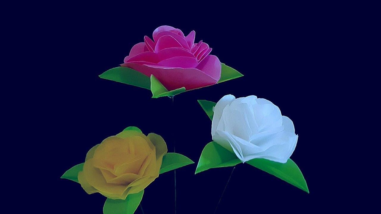 Cara Membuat Bunga Mawar Dari Plastik Kresek Flower Mawar Plastic Bag Youtube