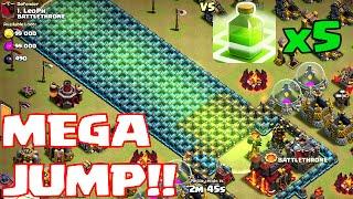 Clash Of Clans - MEGA JUMP!!! ( w/ 5 jump spells part 2)
