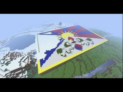 Minecraft Timelapse - Tibetan Flag