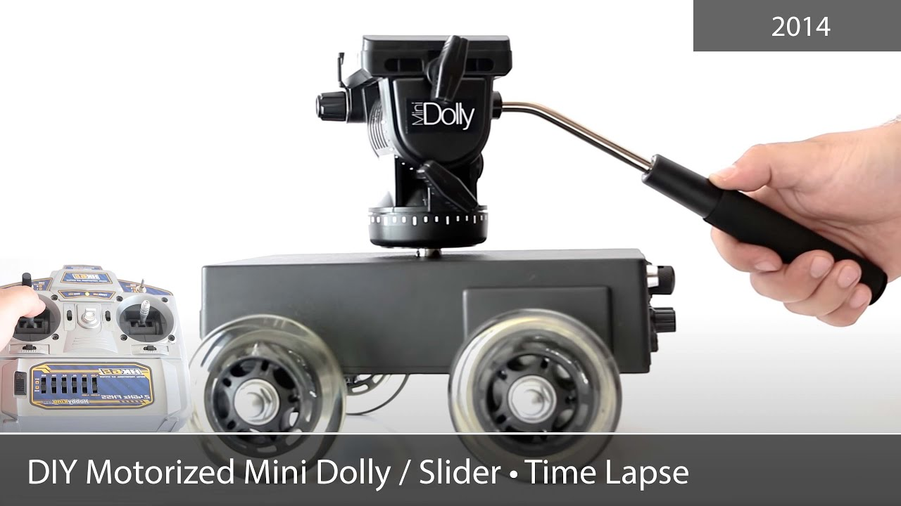 Diy motorized mini dolly slider time lapse camera Motorized video slider