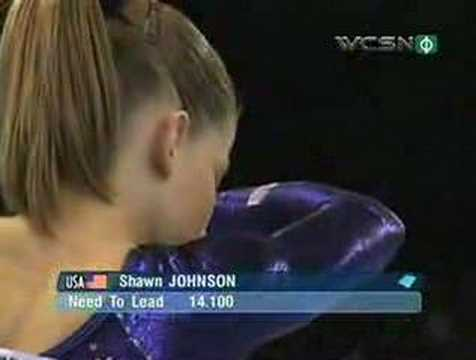 Shawn Johnson is fourth US gymnast to win all-around title