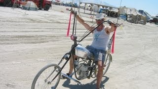 Burningman Briggs and Stratton motorized bicycle