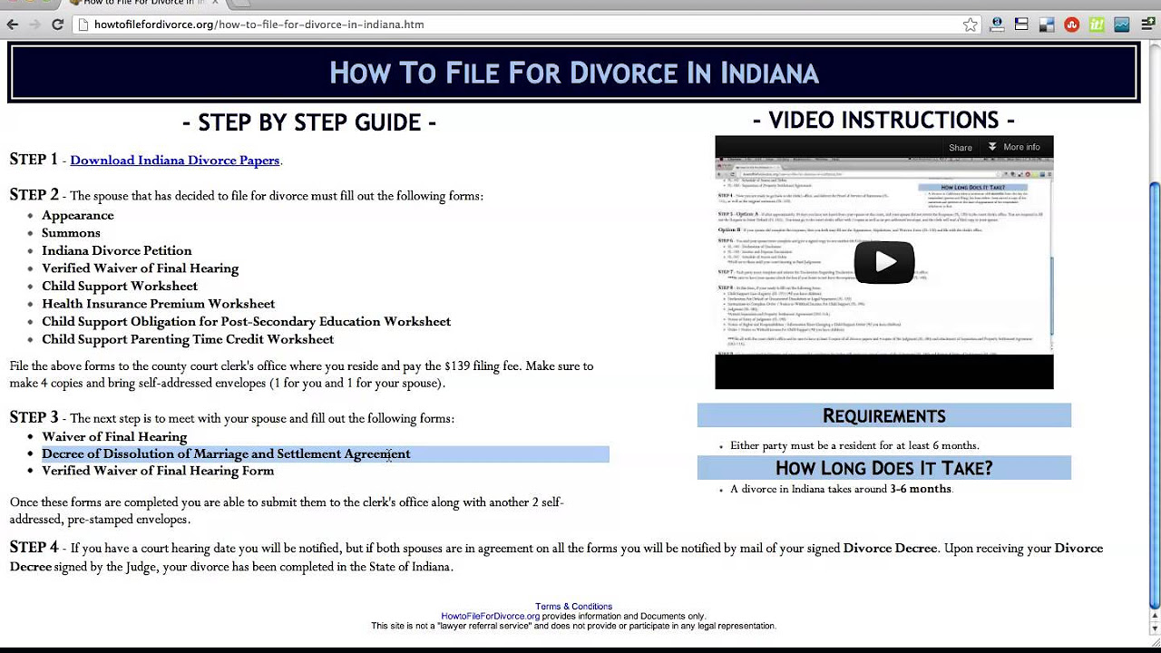 Worksheets Indiana Child Support Worksheet how to file for divorce in indiana