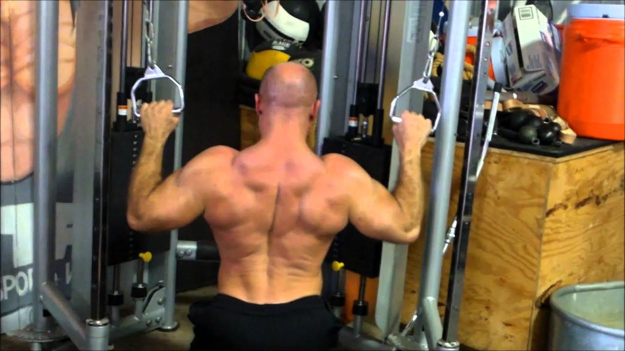 Cable Crossover Lat Pull Down Youtube