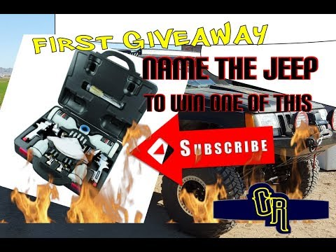 the $150 copart auto auction jeep rebuild project and my first giveaway of a paint spray gun