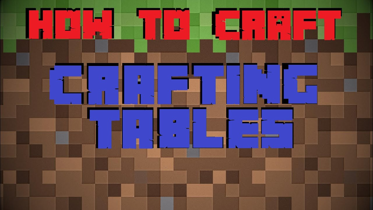 How to make a crafting table in minecraft youtube for How to draw a crafting table