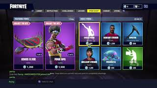 Funk OPS AND FLYTRAP Skin Disco Fever Emote Fortnite item Shop July 16....