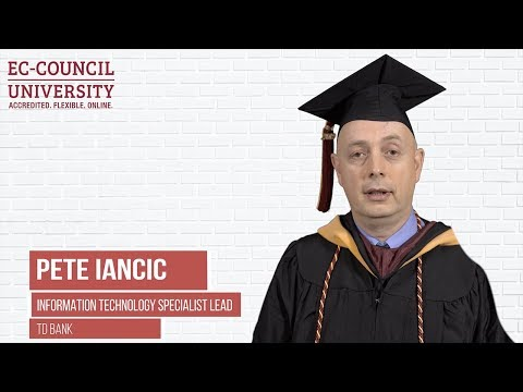 Pete Iancic | Proud Alumni Of EC-Council University 2019 | Online Cybersecurity University