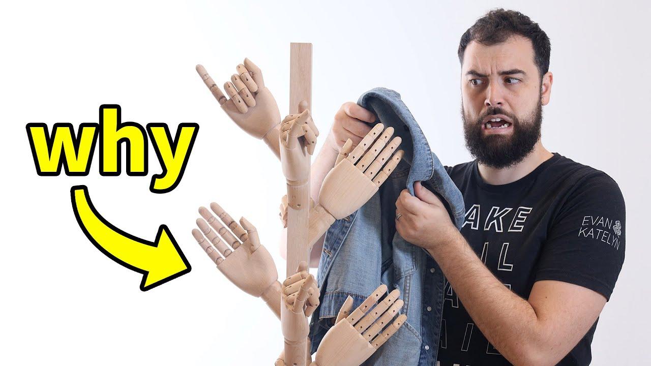 DIY Coat Rack Made of Hands