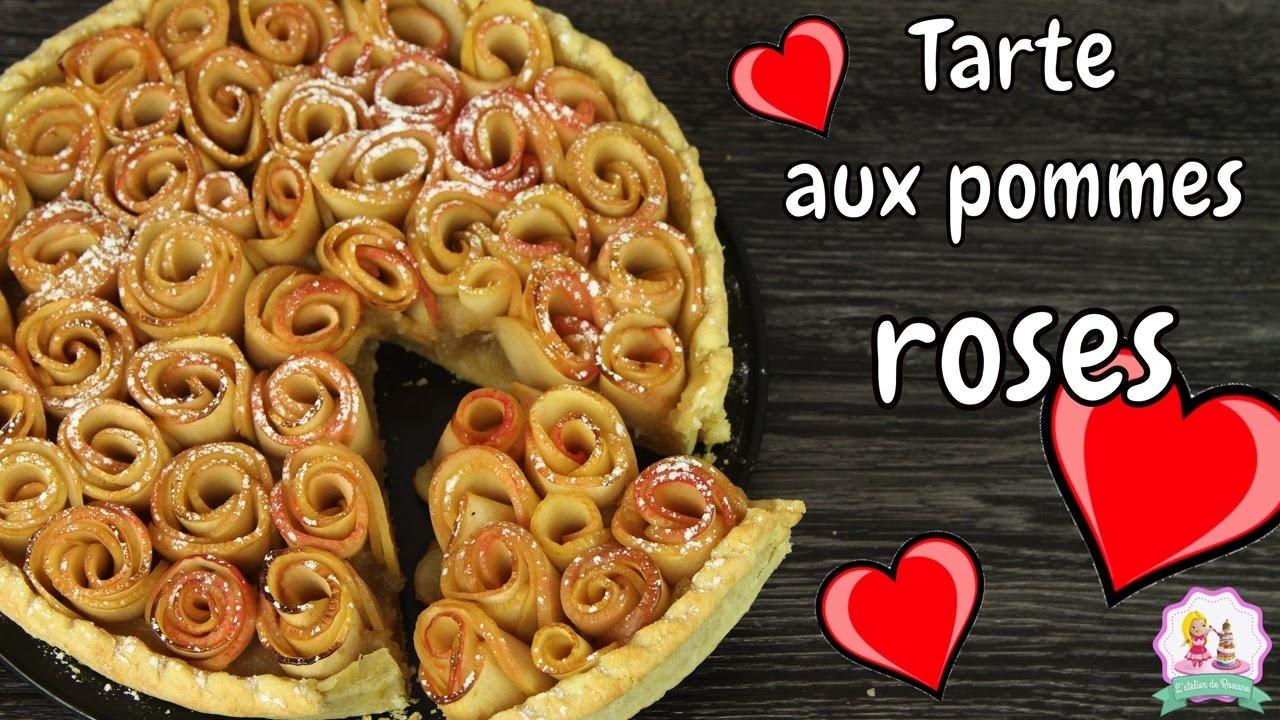 Recette Saint Valentin Tarte Aux Pommes Roses Facile Et Rapide