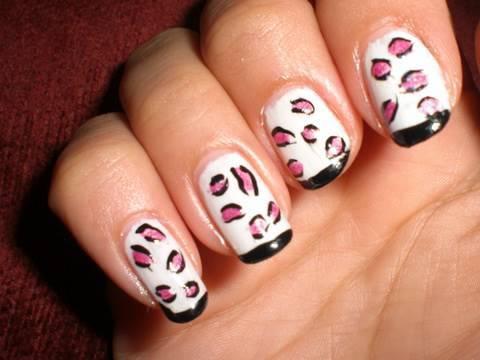 Tutorial De Leopardo Blanco Negro Y Rosa