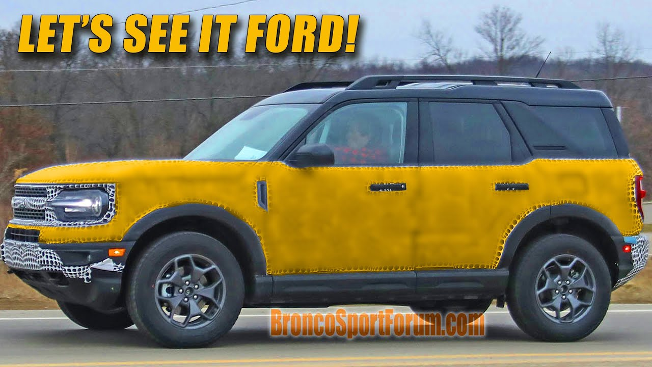 2021 Ford Bronco Sport Spied This Is It Youtube