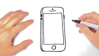 Como dibujar un Celular movil o Smartphone   Dibujos Fáciles
