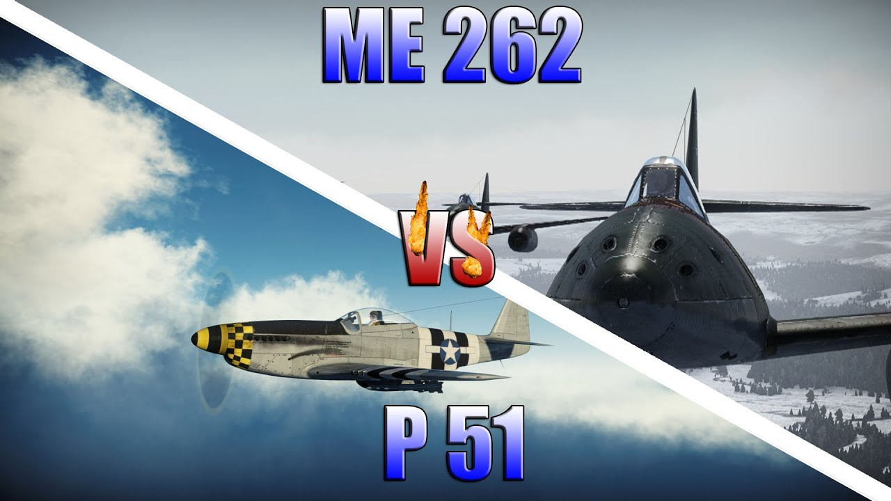 War Thunder Gameplay P 51 Vs Me 262 Rb Fr Youtube