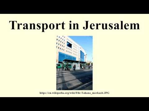 Transport in Jerusalem