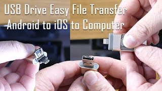 Easy Transfer 3 in 1 OTG USB Flash Drive for Android, iPhone & Computer