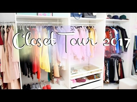 ➣ CLOSET TOUR  2017 (Office and filming room) - Affordable! - New Dressing room tour.