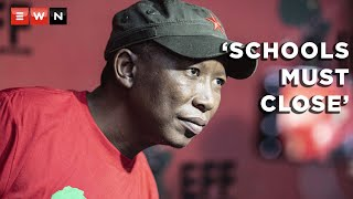 Speaking at a Youth Day event, leader of the EFF Julius Malema has called on schools across the country to close. This in light of rising COVID-19 infections and tighter lockdown restrictions.