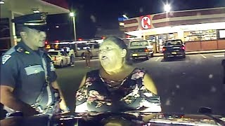Flirty Grandma Fails Field Sobriety Tests