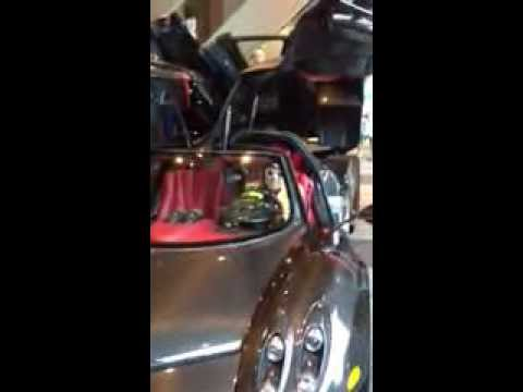 Pagani Huayra at TIFF - MoVernie Sitting in the car