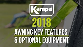 Kampa | 2018 Awnings | Key Features & Optional Equipment | Overview