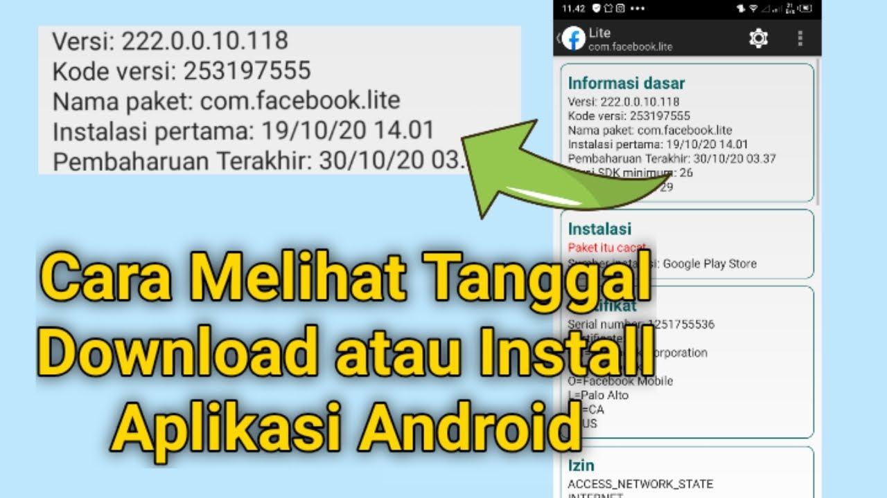 Cara Melihat Tanggal Download Aplikasi Di Android Semua Tipe Youtube