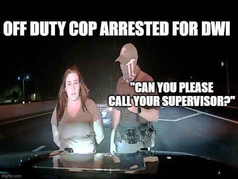 Off Duty Police Officer Arrested For DWI On Camera