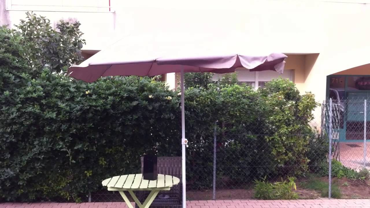 innovation parasol de terrasse s curis viasol youtube. Black Bedroom Furniture Sets. Home Design Ideas