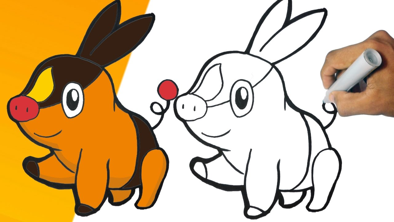 Como Dibujar A Tepig Pokemon Paso A Paso How To Draw Tepig Step By Step Youtube