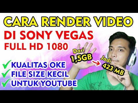 VEGAS PRO 15 - Cara Render Video Dengan Ukuran File Kecil.