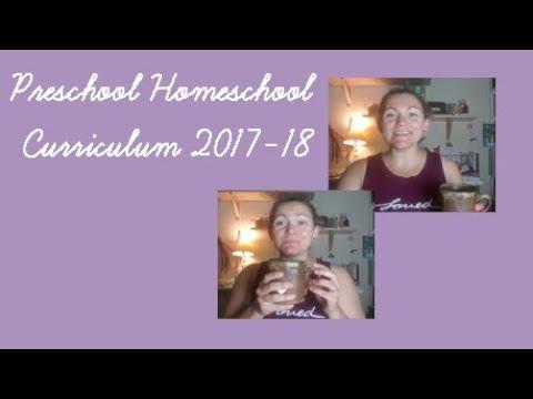 Homeschool Preschool Curriculum 2017-2018