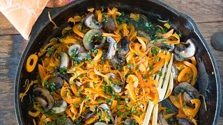 Sweetpotato Noodles With Mushrooms And Chives