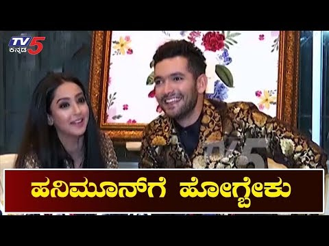 Diganth And Aindrita Ray First Press Meet After Marraige | TV5 Kannada