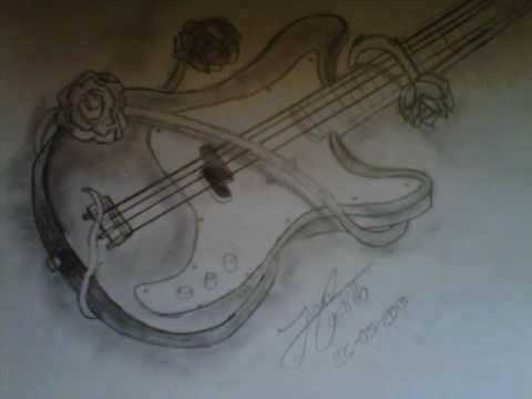 Dibujo Bajo Electrico  YouTube