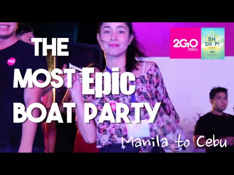 The CRAZIEST Boat Party Ever! (Manila to Cebu Philippines - Travel Oh Ship)