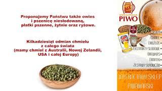 Osprzęt piwowarski chmiel słody Tyczyn Sprzedaż wysyłkowa FHU Piotr Kowalski