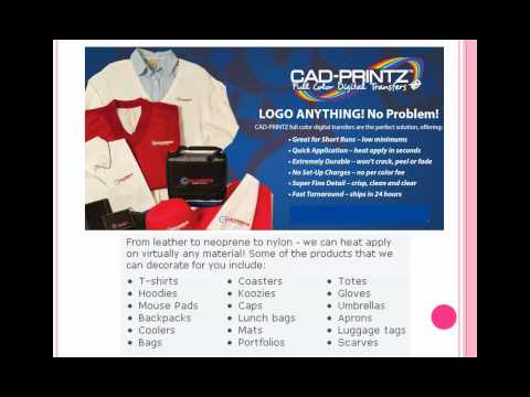 Corporate Gift Ideas with CAD PRINTZ™ full color digital transfers