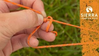 Adjustable Guy Line Knot - Quick & Easy To Tie